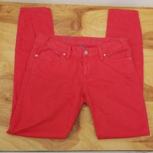 ❤TOMMY HILFIGER SKINNY RED JEANS, size 2